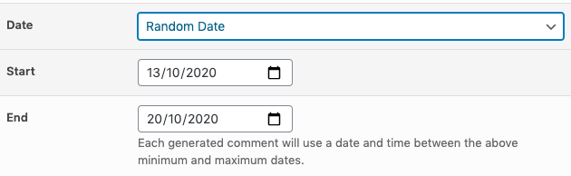 Page Generator Pro: Tutorial: Generate Comments: Random Date