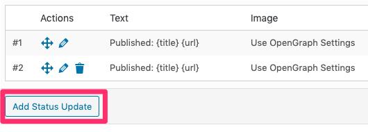 WordPress to Buffer Pro: Add Status