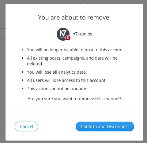 WordPress to Buffer Pro: Buffer: Disconnect