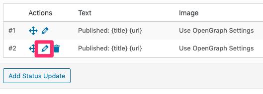 WordPress to Buffer Pro: Edit Status