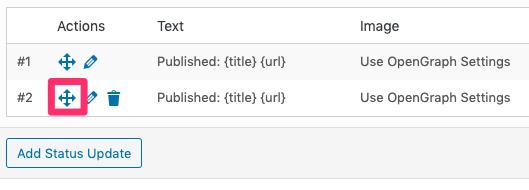 WordPress to Buffer Pro: Move Status