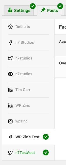 WordPress to Buffer Pro: Statuses: Per-Profile