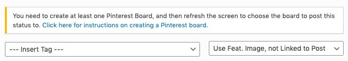 WordPress to Buffer Pro: Pinterest Board Notice