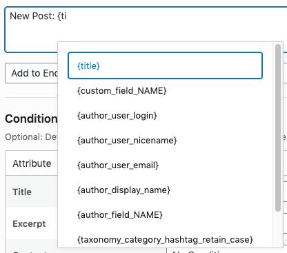 WordPress to Buffer Pro: Status Tags: Autocomplete