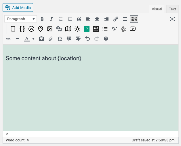 Page Generator Pro: Tutorial: Introduction: Content Group: Content